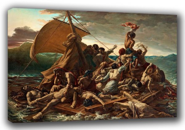 Gericault, Theodore: The Raft of the Medusa. Fine Art Canvas. Sizes: A3/A2/A1. (001863)